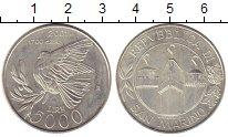 Изображение Монеты Европа Сан-Марино 5000 лир 2001 Серебро UNC-