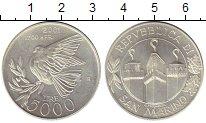 Изображение Монеты Европа Сан-Марино 5000 лир 2001 Серебро UNC