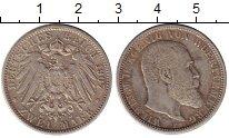 Изображение Монеты Вюртемберг 2 марки 1907 Серебро VF Вильгельм II, F