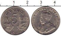 Изображение Монеты Северная Америка Канада 5 центов 1930 Медно-никель XF