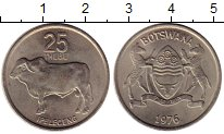Изображение Монеты Ботсвана 25 тебе 1976 Медно-никель XF