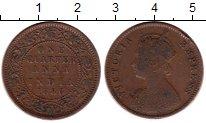 Изображение Монеты Индия 1/4 анны 1886 Медь VF Королева Виктория