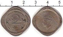 Изображение Монеты Индия 2 анны 1946 Медно-никель XF Георг VI