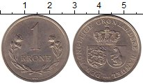 Изображение Монеты Дания Гренландия 1 крона 1964 Медно-никель XF-