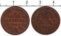 Изображение Монеты Германия Нассау 1 крейцер 1862 Медь XF