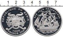 Изображение Монеты Африка Бенин 1000 франков 2004 Серебро Proof