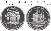 Изображение Монеты Северная Америка Ямайка 10 долларов 1992 Серебро Proof-