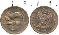 Изображение Монеты Африка ЮАР 2 цента 1977 Бронза XF