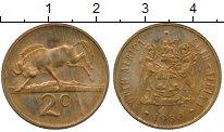 Изображение Монеты Африка ЮАР 2 цента 1980 Бронза XF