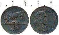 Изображение Монеты Африка ЮАР 2 цента 1967 Бронза XF