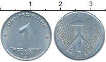 Изображение Монеты ГДР 1 пфенниг 1952 Алюминий XF