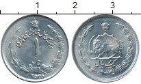 Изображение Монеты Иран 1 риал 1976 Медно-никель XF