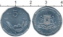 Изображение Монеты Сомали 5 сенти 1976 Алюминий XF
