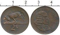 Изображение Монеты ЮАР 2 цента 1965 Бронза XF