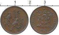 Изображение Монеты ЮАР 1 цент 1972 Бронза XF