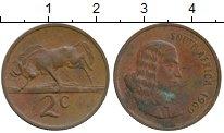 Изображение Монеты Африка ЮАР 2 цента 1969 Бронза XF