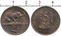 Изображение Монеты Африка ЮАР 2 цента 1971 Бронза XF