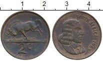 Изображение Монеты Африка ЮАР 2 цента 1965 Бронза XF