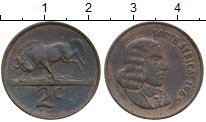 Изображение Монеты ЮАР 2 цента 1965 Бронза XF Йохан ван Рибек
