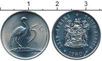 Изображение Монеты Африка ЮАР 5 центов 1980 Медно-никель XF