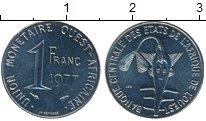 Изображение Монеты Африка Западно-Африканский Союз 1 франк 1977 Медно-никель XF