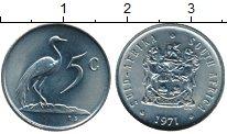 Изображение Монеты Африка ЮАР 5 центов 1971 Медно-никель UNC-