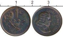 Изображение Монеты Африка ЮАР 1 цент 1967 Бронза VF