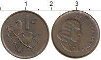 Изображение Монеты ЮАР 1 цент 1966 Бронза XF