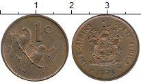 Изображение Монеты Африка ЮАР 1 цент 1974 Бронза XF
