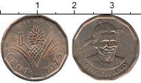 Изображение Монеты Свазиленд 1 цент 1975 Бронза XF