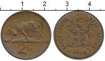Изображение Монеты Африка ЮАР 2 цента 1970 Бронза XF