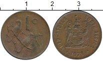 Изображение Монеты ЮАР 1 цент 1973 Бронза XF