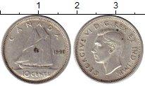 Изображение Монеты Северная Америка Канада 10 центов 1940 Серебро XF