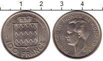 Изображение Монеты Европа Монако 100 франков 1956 Медно-никель XF