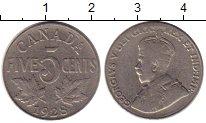 Изображение Монеты Канада 5 центов 1928 Медно-никель VF Георг V