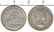 Изображение Монеты Канада 10 центов 1960 Серебро VF