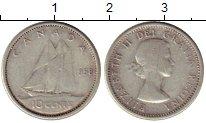 Изображение Монеты Канада 10 центов 1958 Серебро VF