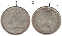 Изображение Монеты Канада 10 центов 1953 Серебро VF Елизавета II