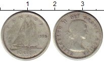 Изображение Монеты Канада 10 центов 1956 Серебро VF Елизавета II