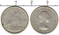 Изображение Монеты Северная Америка Канада 10 центов 1962 Серебро VF
