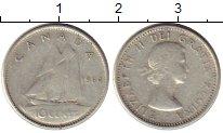 Изображение Монеты Северная Америка Канада 10 центов 1964 Серебро VF