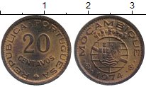 Изображение Монеты Мозамбик 20 сентаво 1974 Бронза UNC-