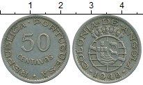 Изображение Монеты Ангола 50 сентаво 1948 Медно-никель XF