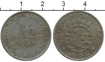 Изображение Монеты Португальская Индия 1/2 рупии 1952 Медно-никель XF-