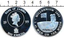 Изображение Монеты Замбия 1000 квач 1999 Серебро Proof