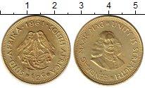 Изображение Монеты ЮАР 1/2 цента 1961 Латунь UNC-