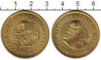 Изображение Монеты Африка ЮАР 1 цент 1961 Латунь UNC-