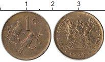 Изображение Монеты Африка ЮАР 1 цент 1987 Бронза XF