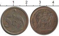 Изображение Монеты ЮАР 5 центов 1993 Бронза XF