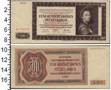 Изображение Банкноты Европа Богемия и Моравия 500 крон 1942  XF+
